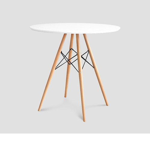Nowoczesny biały stolik - okrągły
