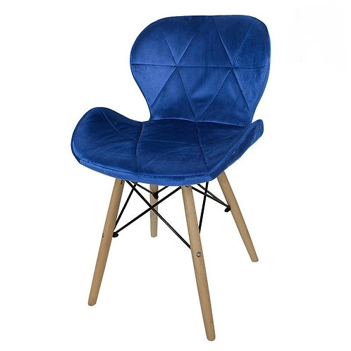 Krzesło niebieskie  welurowe Lusia 2