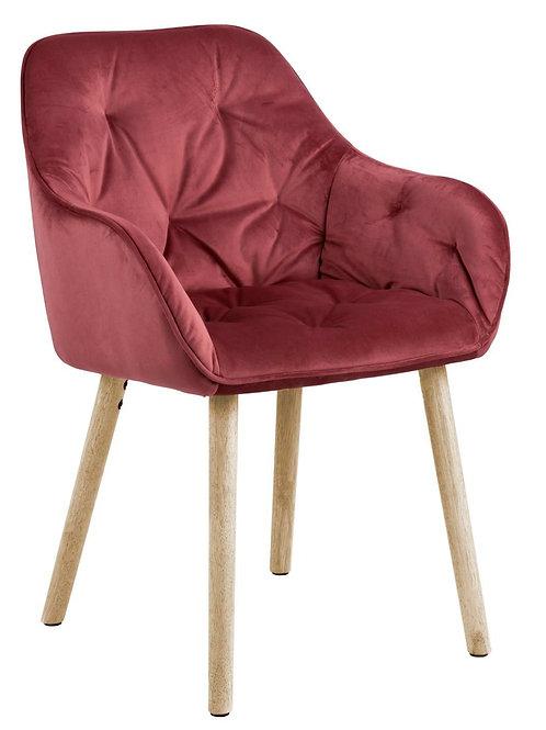 Krzesło koralowe   welurowe  Antonio 4