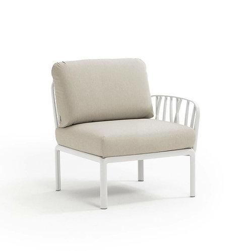 Fotel Komodo końcowy biały /beżowy