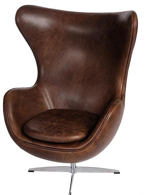 Fotel skórzany Arne Egg - Vintage