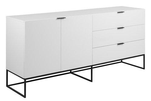Komoda  biała 2 fronty, 3 szuflady 180 cm