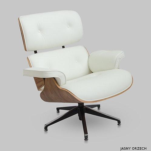 Fotel  Luxury  biały   Lounge Chair Eames 1