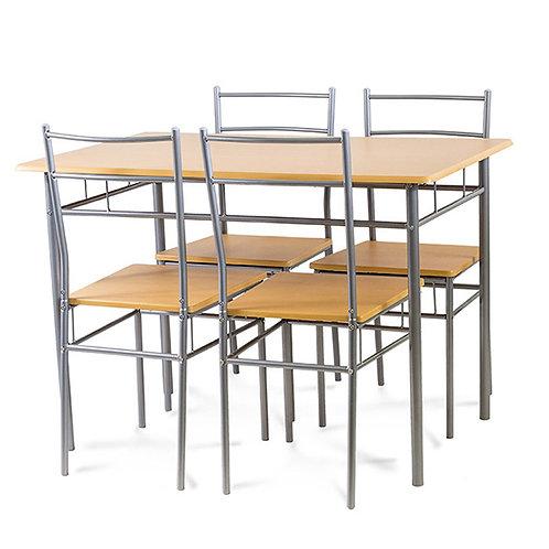 Zestaw mebli Home 4 krzesła i stół