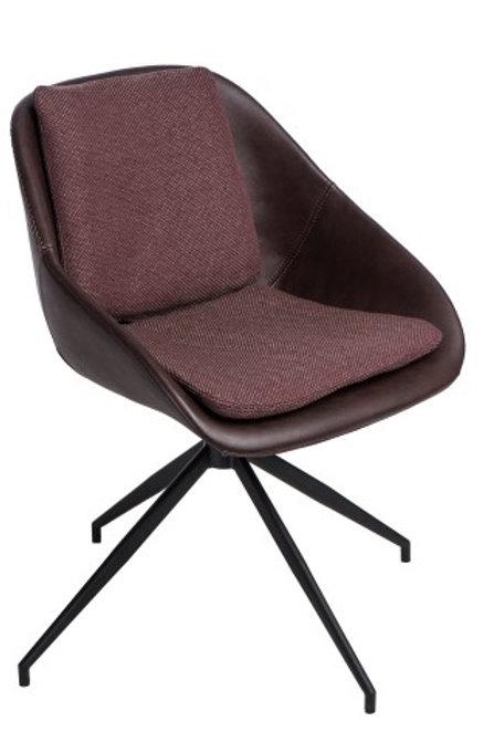 Krzesło obrotowe  Pier 2  -  brązowe ciemne