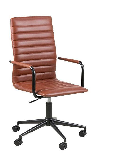 Fotel biurowy na kółkach brązowy  Werdi