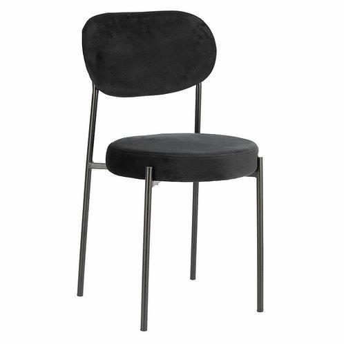 Krzesło czarne welurowe Linda 55