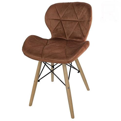Krzesło brązowe  welurowe Lusia 3