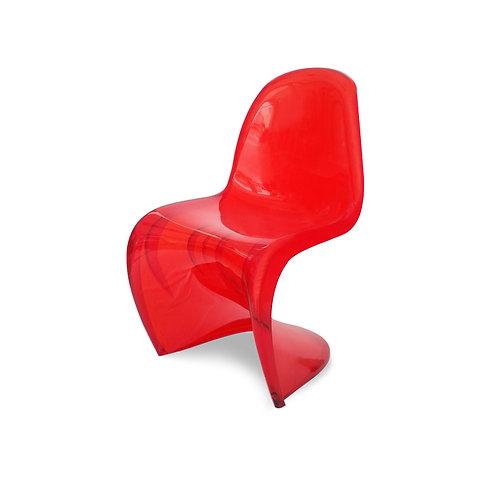 Krzesło czerwone transparentne
