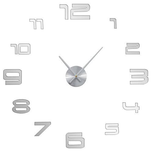 Zegar ścienny 3D duży, do naklejenia na ścianę 2