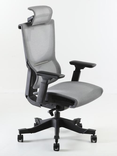 Fotel biurowy Dortmund  szary/ czarny
