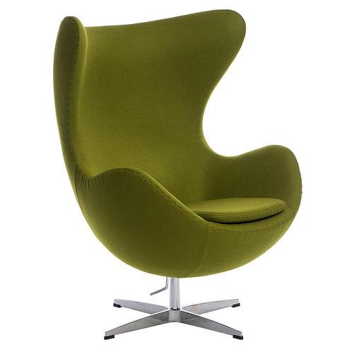 Fotel EGG kaszmir zielony jasny  Premium