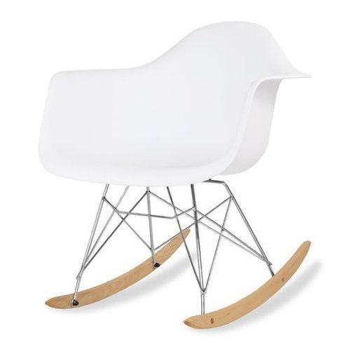 Krzesło bujane białe  Nina  33