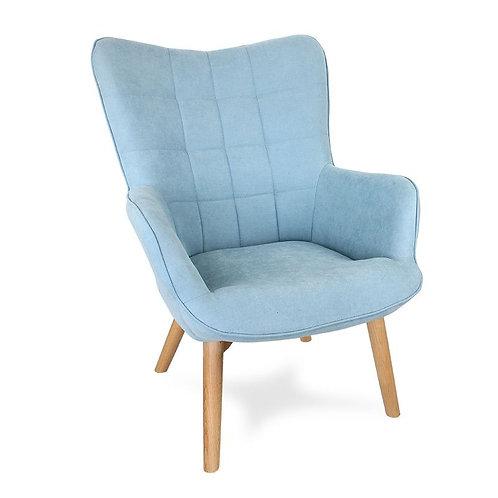 Fotel uszak jasny niebieski Skandi 29