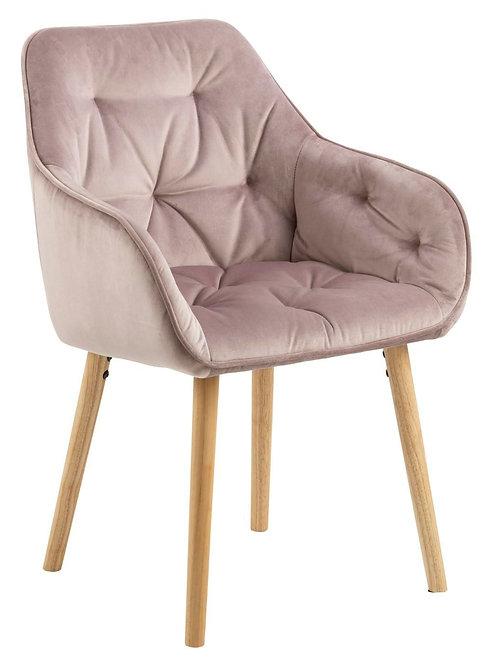 Krzesło różowe  welurowe  Antonio 3