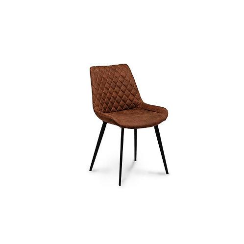 Krzesło brązowe tapicerowane ekoskóra Andre