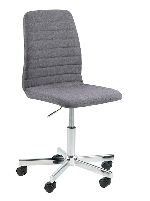 Fotel biurowy obrotowy szary chrom