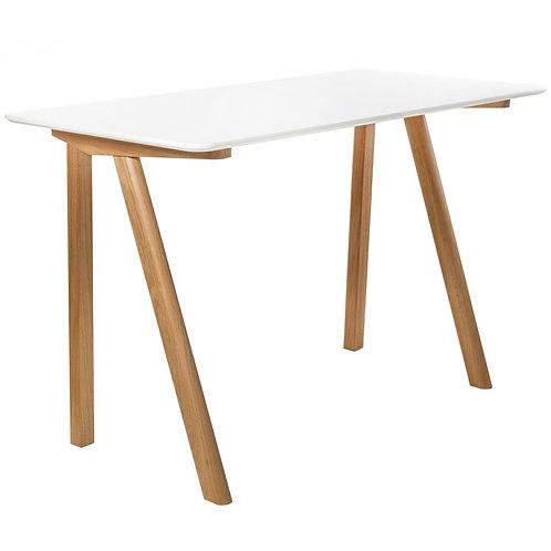 Designerskie białe biurko Rene 33 - dębowe