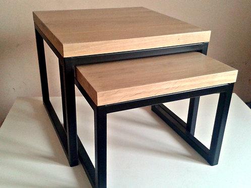 Hand Made - podwójny stolik kawowy - DoubleOak