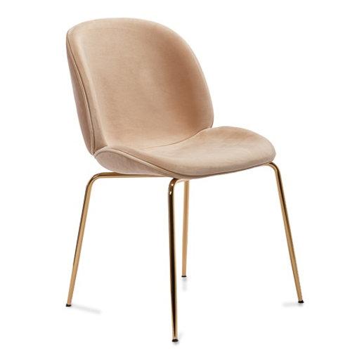 Krzesło beżowe  welurowe  Agnes   3342