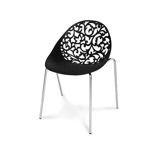 Krzesło ażurowe  Flourish Black