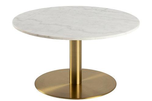 Stolik kawowy  80x80 marmur/ złoty