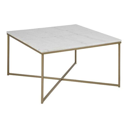 Kwadratowy stolik marmurowy Mario 80 cm