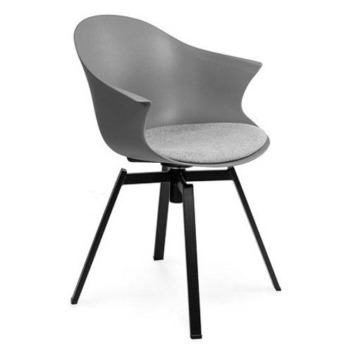 Krzesło szare obrotowe Kornel 44