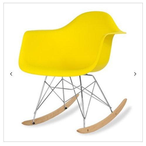 Krzesło bujane żółte  Nina  33
