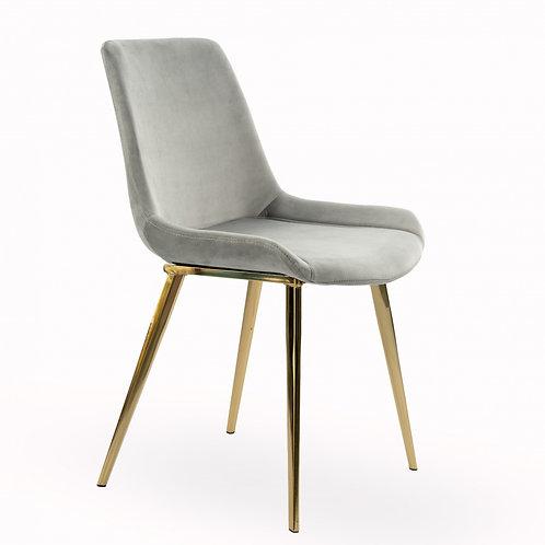 Krzesło szare welurowe  Bianka  334