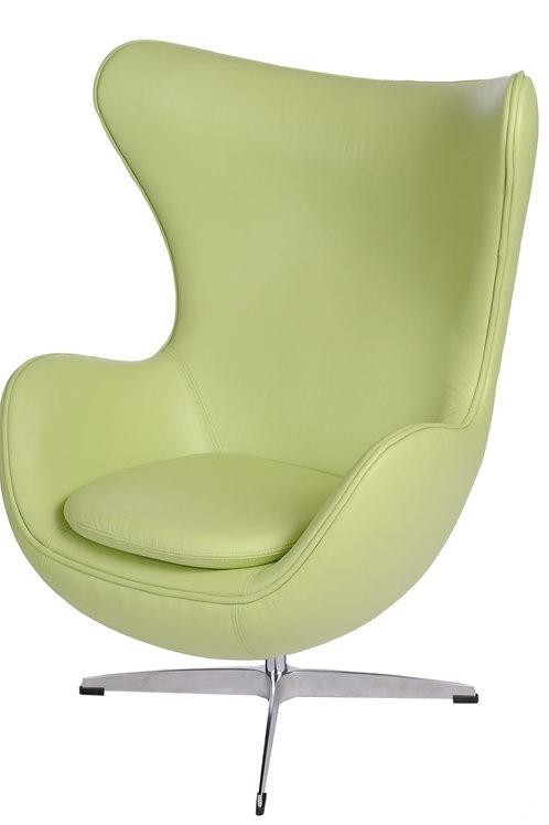 Fotel  Egg - zielona skóra - Premium