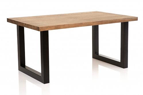 Stół drewniany dębowy 160 x 100 cm Lofti 8