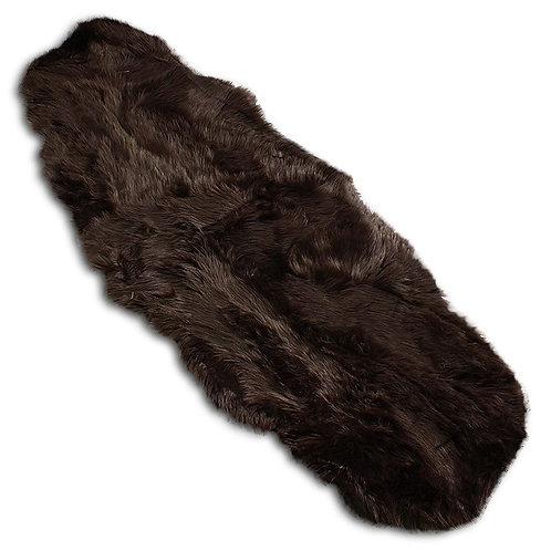 Brązowe futerko - dywanik 180x67cm