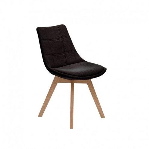 Krzesło czarne tapicerowane Amanda 44