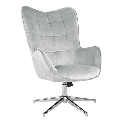 Fotel obrotowy z weluru szary Elżbiet 3