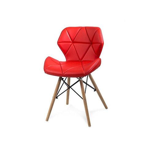 Krzesło tapicerowane Diamond czerwone