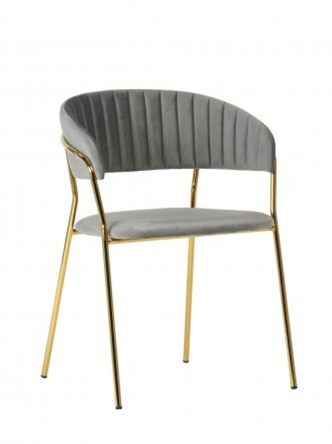 Krzesło szare welurowe Liliana 29