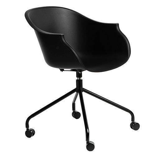 Krzesło na kółkach czarne
