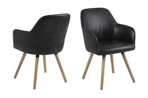 Krzesło tapicerowane czarne 111