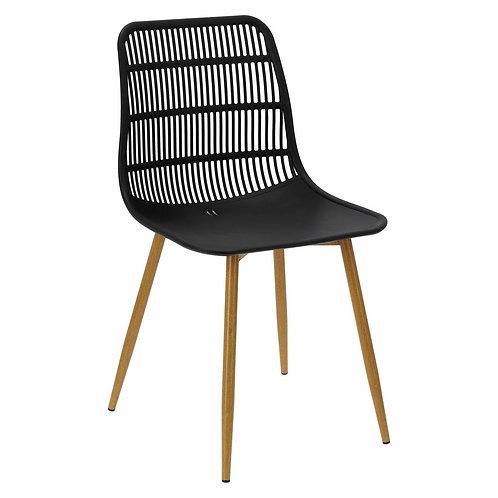 Krzesło czarne ażurowe Azalia 22