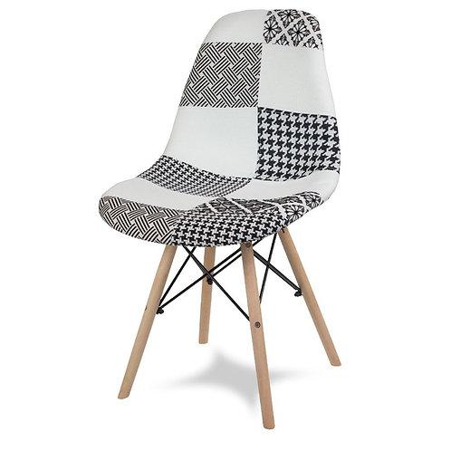 Krzesło patchwork BW  Amelia 2132