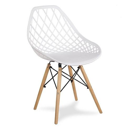 Krzesło białe na drewnianych nogach Beti 1