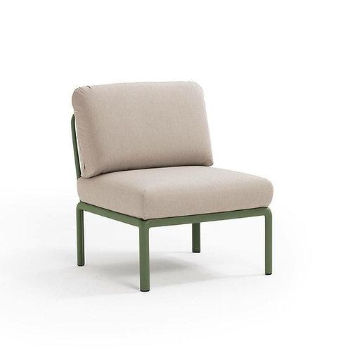 Fotel Komodo środkowy zielony /kremowy