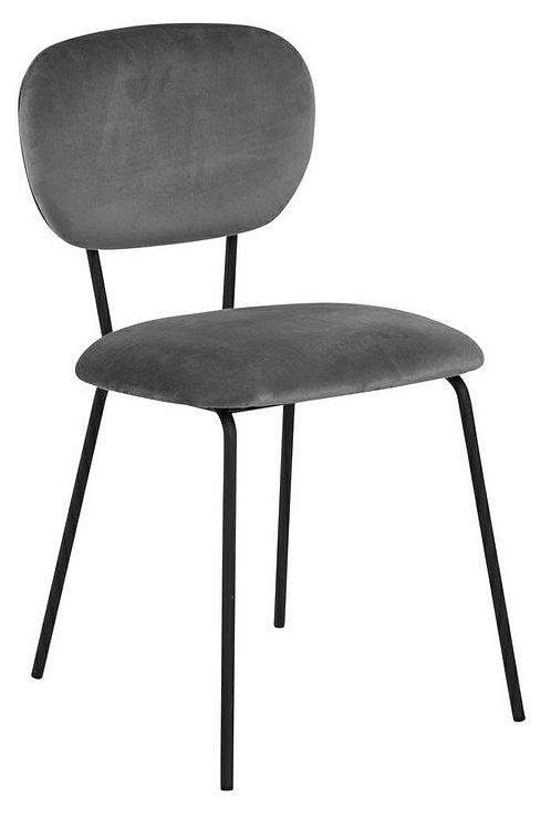 Krzesło szare welurowe Style 60