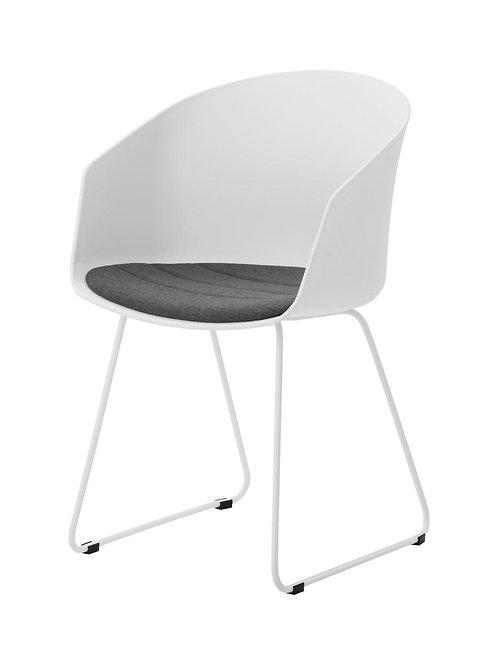 Krzesło białe  z poduszką Syriusz