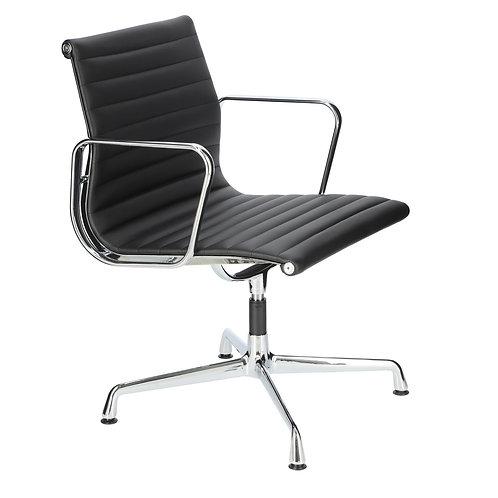 Fotel biurowy czarny  skóra Albert 22