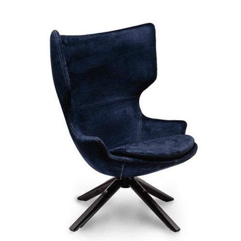 Fotel  welurowy ciemno niebieski  Witold