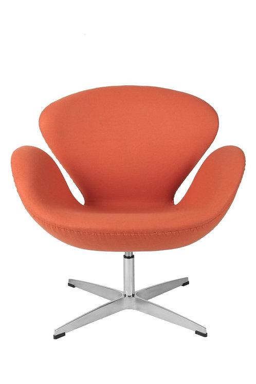 Fotel Tulip pomarańczowy - kaszmir