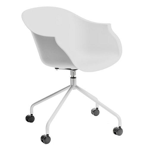 Krzesło obrotowe na kółkach białe