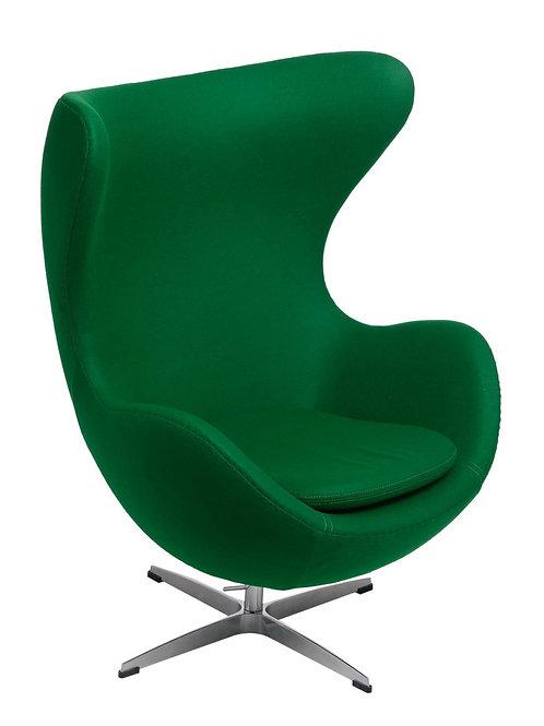 Fotel Arne Egg -  Kaszmir, szmaragdowy zielony